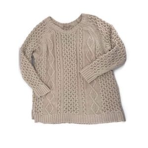 Soft Surroundings Chunky Cable Knit Sweater